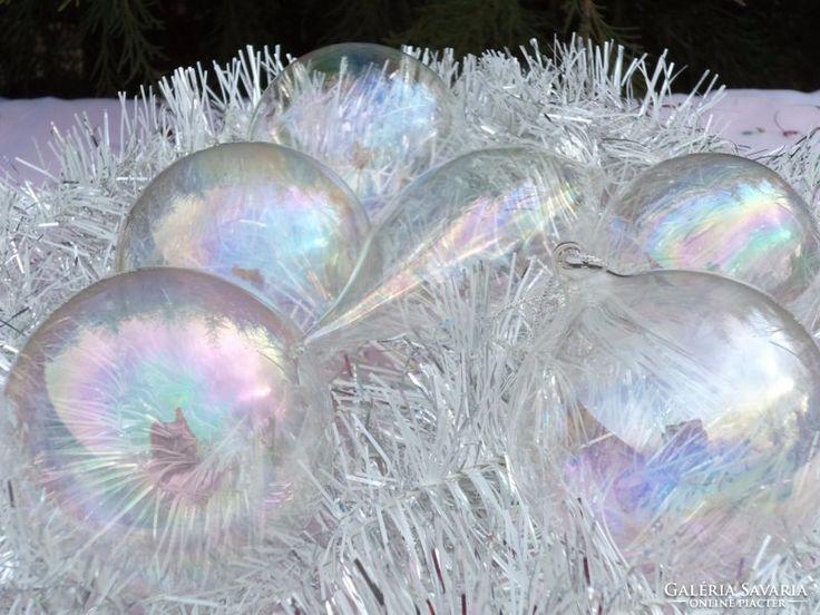 Karácsonyfadísz 6 darab
