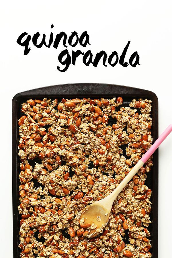 Quinoa Granola with Oats & Almonds... Naturally sweetened, 7 ingredients