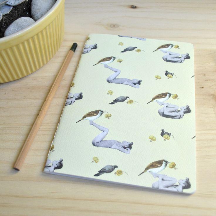 Libreta / Notebook Gorrión A5 by Tijeras y Poemas (Ana Lorente).  #collage #notebook #tijerasypoemas