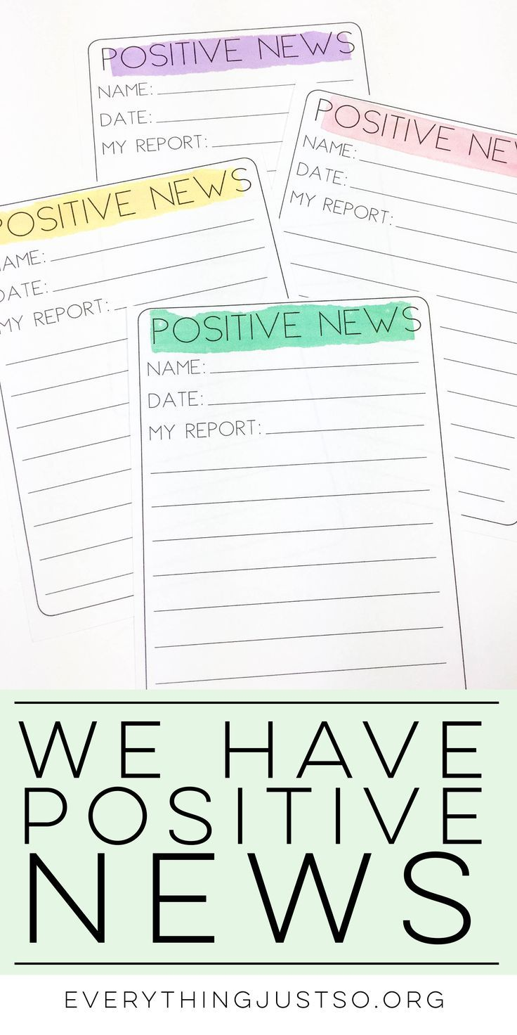 We Have Positive News| everythingjustso.org | Struggling to find the positive in your classroom? Learn how I turned a negative classroom environment into a positive one using a simple, free tool