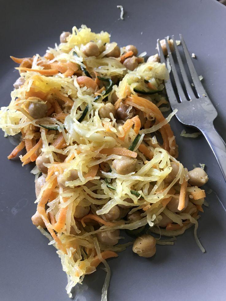 Spaghetti squash pasta. #vegan #grainfree