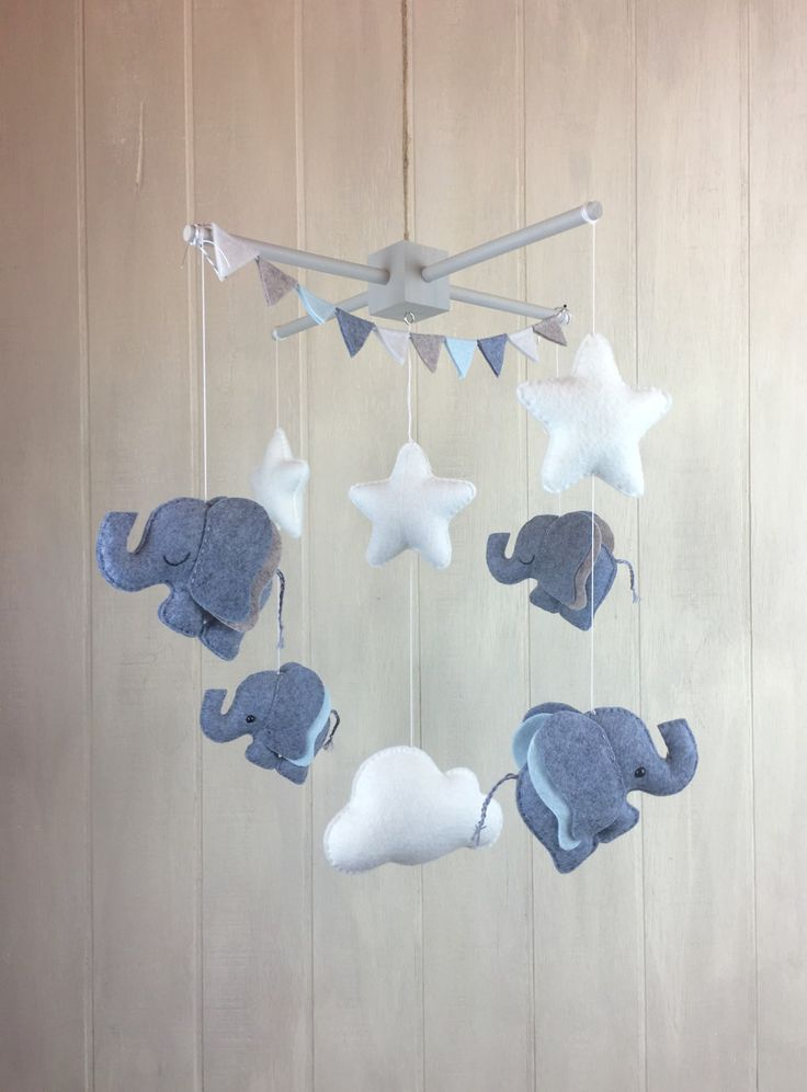 Elephant mobile baby mobile star mobile cloud mobile