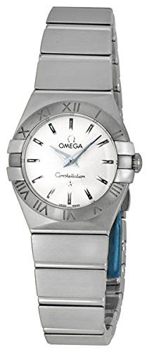 Omega Womens 12310246002001 Constellation Analog Display Swiss Quartz Silver Wat...