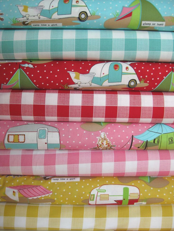 OMG I need to make curtains, placemats, potholders and, oh all kinds of stuff for my camper!