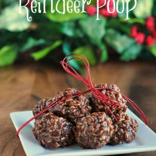 Easy No Bake Recipe for Reindeer droppings Cookies, whip up a batch and include a reindeer poop poem Free Printable