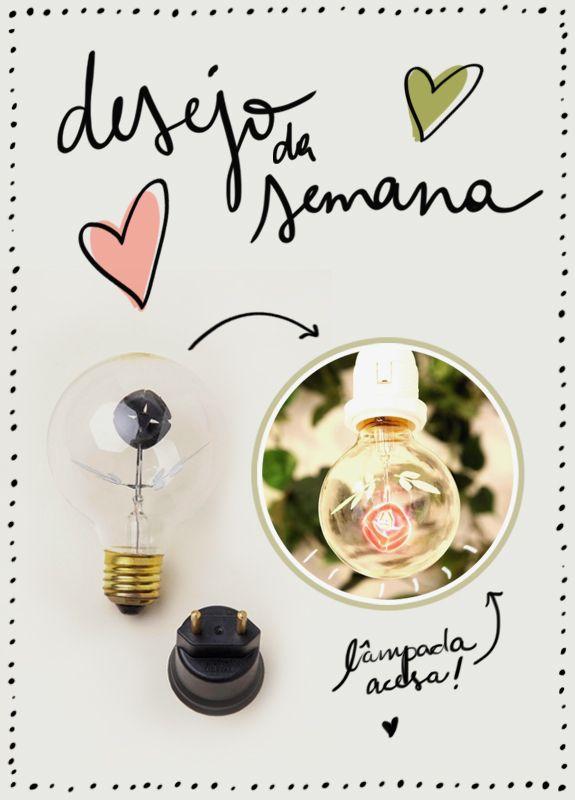 Aposto que quando Thomas Edison inventou a lâmpada, ele jamais imaginou que ela pudesse se tornar um objeto de desejo em nossas vidas! Cataploft! Morri de amores por essa fofurice da Farm! Uma lâmpada com haste de flor! Pode isso gente?