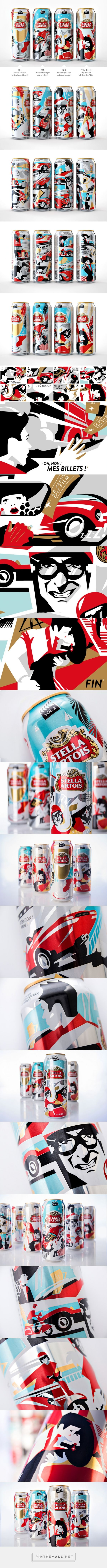 #StellaArtois Limited Edition - #Cannes Film Festival #packaging designed by BBDO Ukraine - http://www.packagingoftheworld.com/2015/05/stella-artois-limited-edition-cannes.html