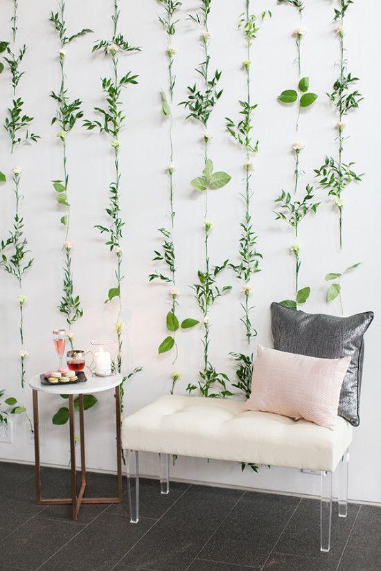 Flower wall backdrop idea