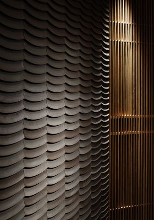 Scallop wall tile