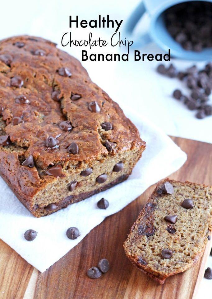 Healthy Chocolate Chip Banana Bread   Pinimprovement