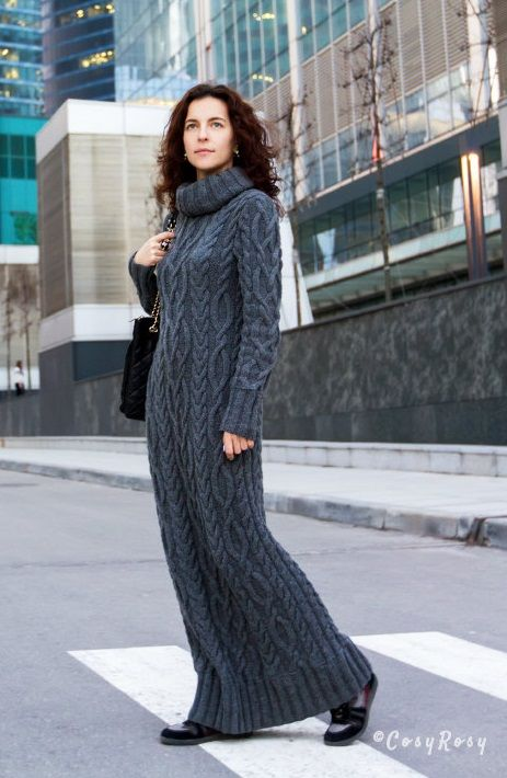 knitted dress by Cosy Rosy