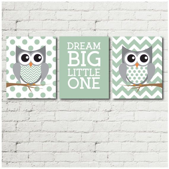 Owl Decor  Gender Neutral Nursery  Owl Nursery  by RabeyCreative