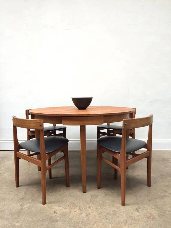 Nathan Teak Dining Table 4 Chairs Hans Olsen Frem Rojle Danish