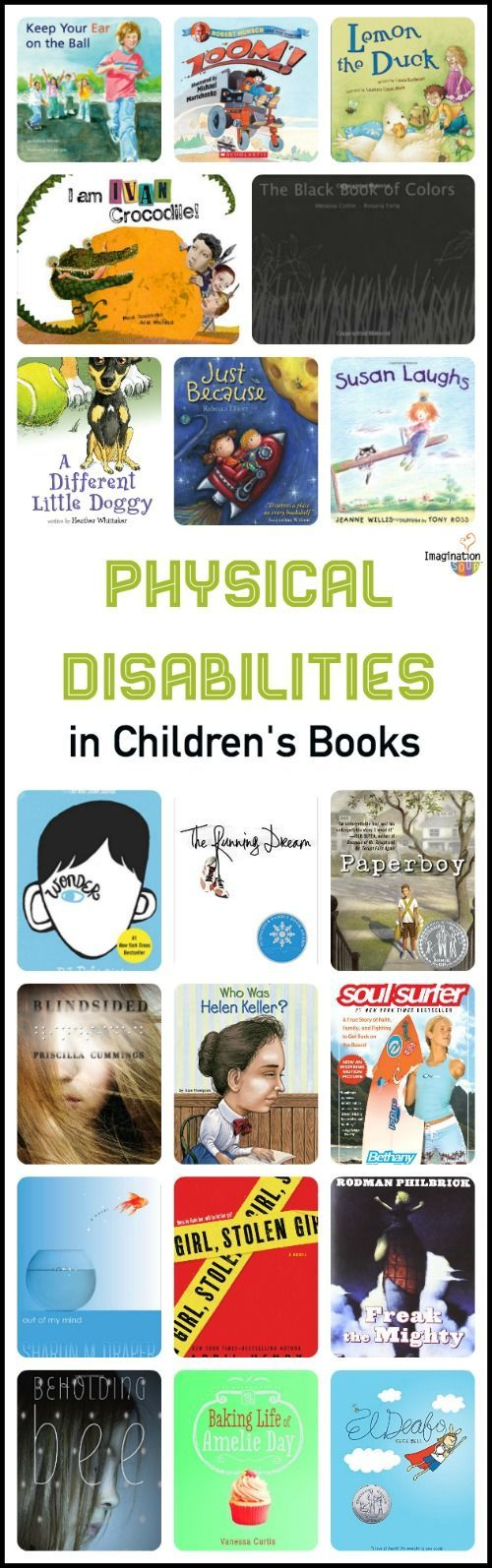 These AWESOME children's focus on physical disabilities in  order to teach empathy and kindness.