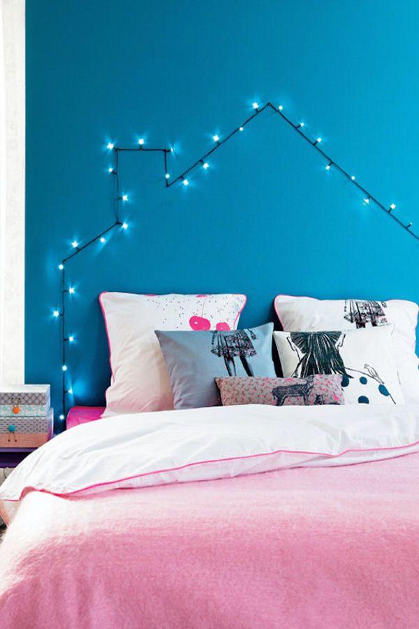 Une tête de lit lumineuse : Des têtes de lit originales et faciles àfabriquer - Linternaute.com Bricolage