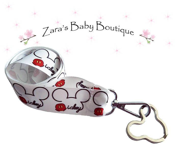 Mickey Mouse Lanyard * Breakaway Lanyard * Choice of 4 designs * Disney Fan Lanyard * Ladies Men Kids Lanyard * USB Keyring Key Ring * ZBB by ZarasBabyBoutique on Etsy