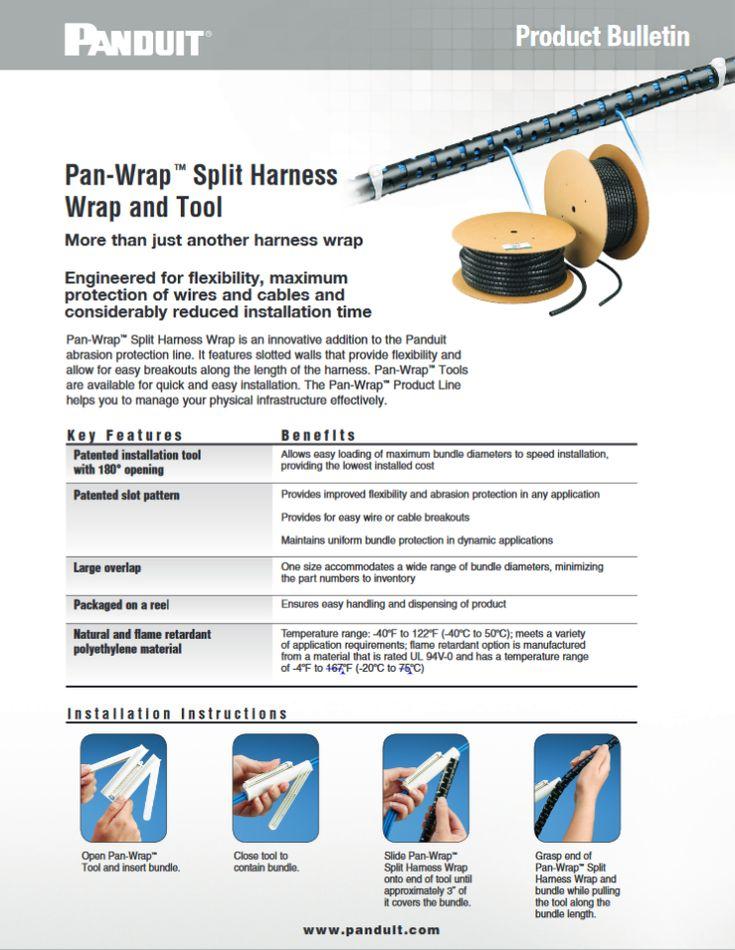 "#Panduit Pan-Wrap™ Split Harness Wrap and Tool ""WACB30--WW-ENG"" 12.2015 http://www1.panduit.com/heiler/ProductBulletins/D-WACB30--WW-ENG-PanWrapSplitHarness.pdf"