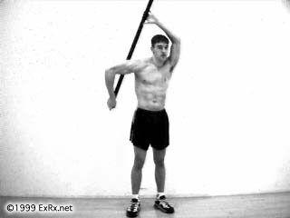 Broom Stick Infraspinatus Stretch