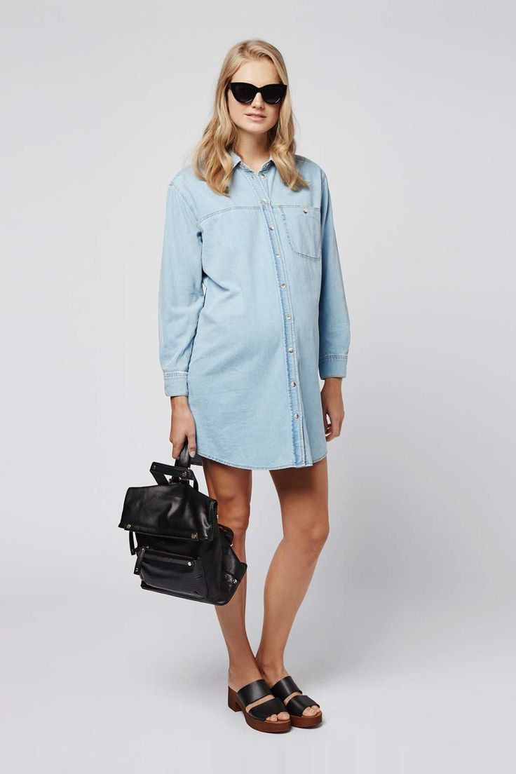 MATERNITY Denim Shirt Dress | Topshop