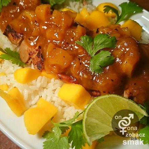 polędwiczka wieprzowa w morelowym sosie z mango | zobacz ich smak