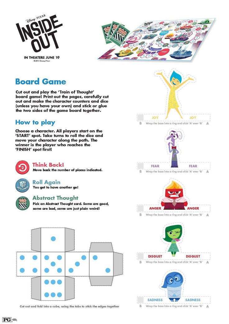 Free Printable Inside Out Board Game and Activities for Kids #InsideOutEvent