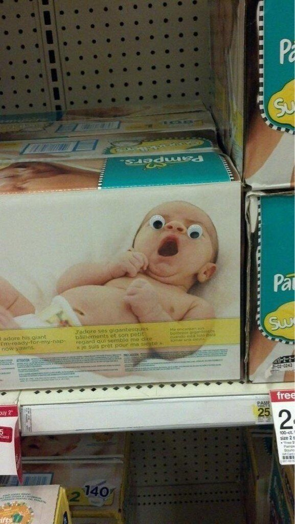 #DIY baby aisle prank - googly eyes! @Hannah Erwin WE ARE DOING THIS