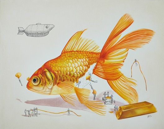 Golden fish on Behance by ricardo solis