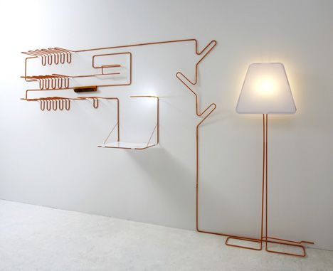 The line furniture system designed by aykut erol