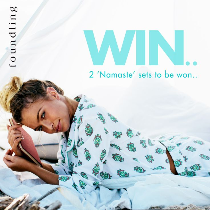 ‪#‎namastefoundling‬ ‪#‎competition‬ ‪#‎giveaway‬ ...head on over to our instagram account @_foundling for your CHANCE TO WIN 2 x neon block print namaste PJs - one for you + a pair for your friend drawn this mothers day!...entry is easy, full T&Cs on our instagram page...& good luck www.foundling.com.au