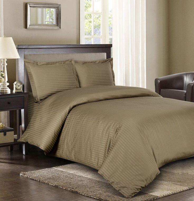 Comforter Set 3pc Full / Queen Cotton Bedroom Luxury Bedding Sateen Duvet Cover #ComforterSet3pc
