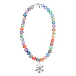 Necklace  with clay pearls from Lotta Design of Sweden