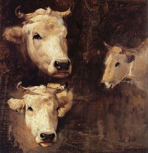 Grigorescu, Nicolae (1838-1907) - Oxen (Constanta Art Museum, Romania)