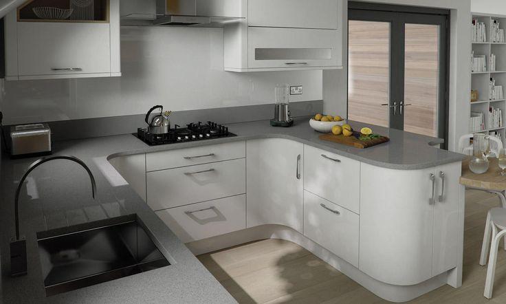 White Kitchen Grey Worktop white gloss cupboards grey granite worktop - google search