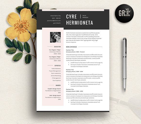 Resume Template | CV Template - 04 by GResume on @creativemarket