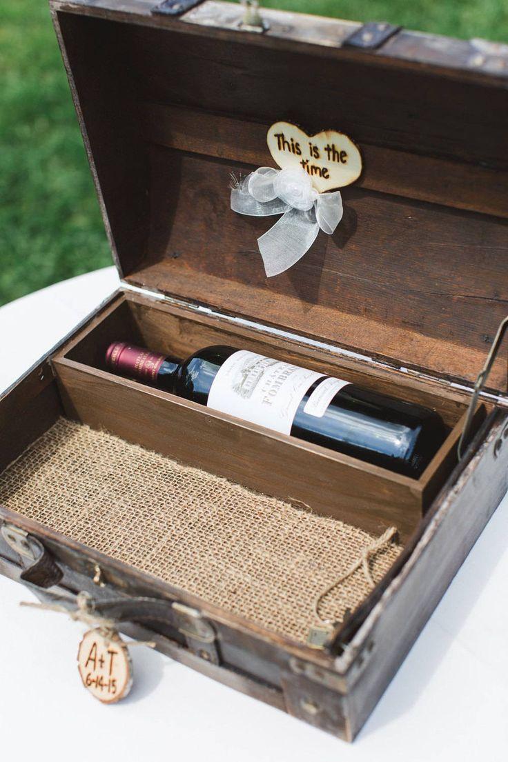 Anniversary Wine Box - Wine Box Ceremony - Wedding Card Trunk - Wine box - First Fight Box - Wedding Gift by AngisSouthernChic on Etsy