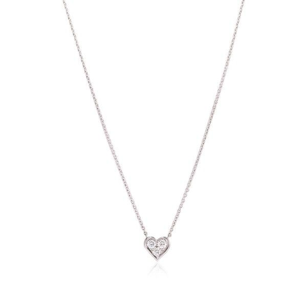 Best 25 heart pendant necklace ideas on pinterest heart pre owned tiffany co diamond heart pendant necklace 1030 liked on aloadofball Images