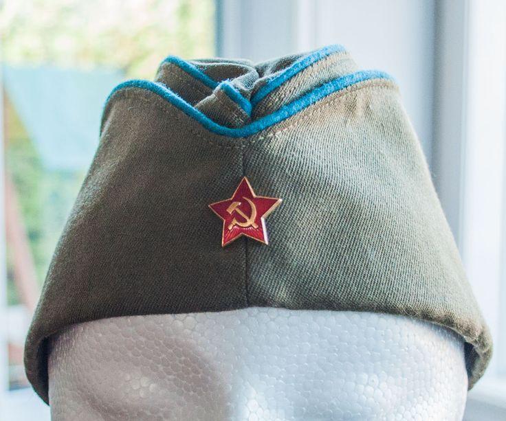 Chapeau militaire de l'armée de l'air soviétique - URSS - calot militaire URSS de la boutique 3rvintages sur Etsy