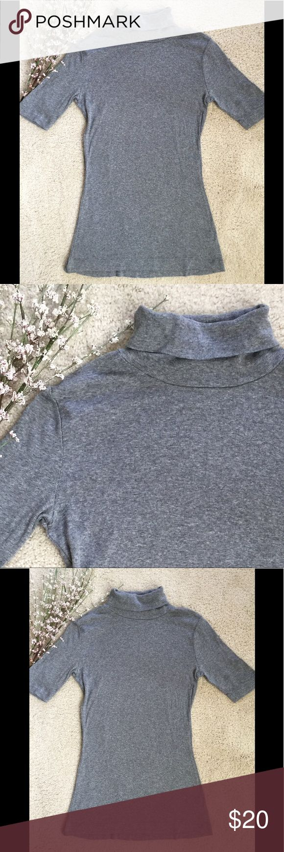 🆕 Listing✨So Soft Grey Turtleneck Sweater Top 🍁 Gorgeous 3/4 Length sleeved heavy Cotton blend Knit Turtleneck Sweater. So Soft, Warm & Comfy. Can also be worn by a Med. Velvety Soft! Perfect for Fall 🍁🍂 Sweaters Cowl & Turtlenecks