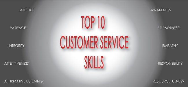list of customer service skills