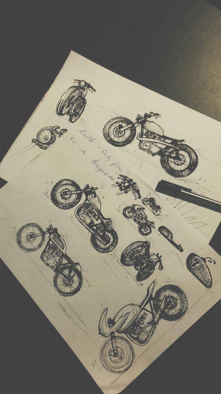 Cafe racer sketches for Motocultura7