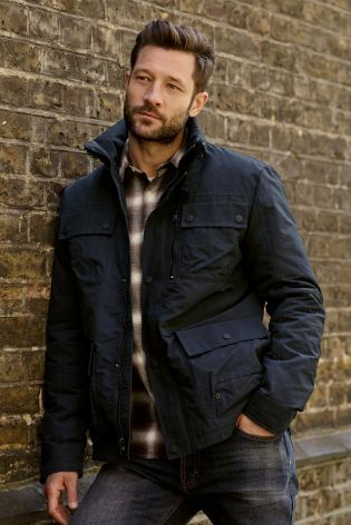 Buy Navy Wadded Jacket online today at Next: Rep. of Ireland