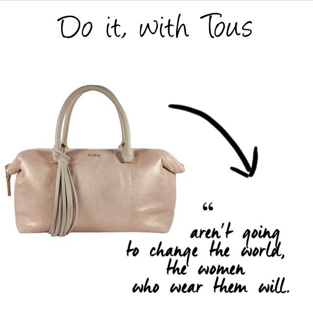 Bags aren't going to change the world, the women who wear them will  Find it at glammy.pt, instagram and facebook!