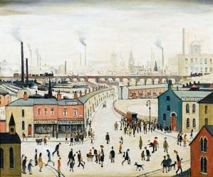 LS Lowry's painting 'Industrial Landscape'