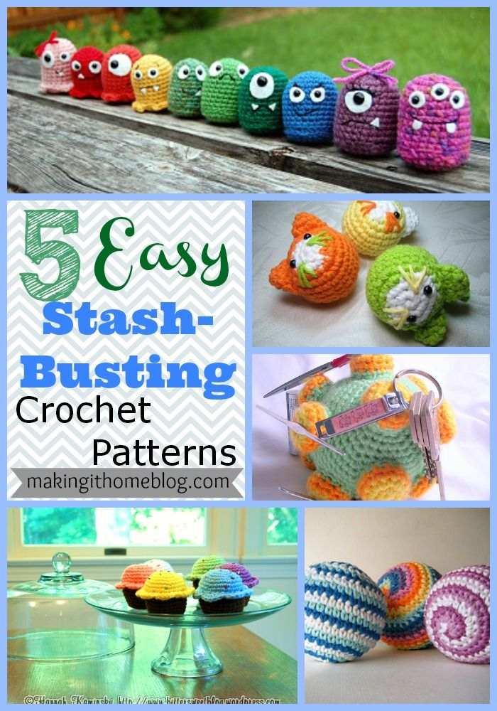 5 Easy Stash-busting Crochet Toy Patterns