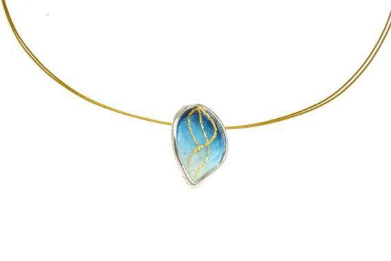 Enamel Pendant, Leaf Pendant,Sterling Silver Pendant, Autumn #Pendant, Autumn Leaves, #Fall Leaves,#Enamel Jewelry, #Silver #Jewelry, Giampouras