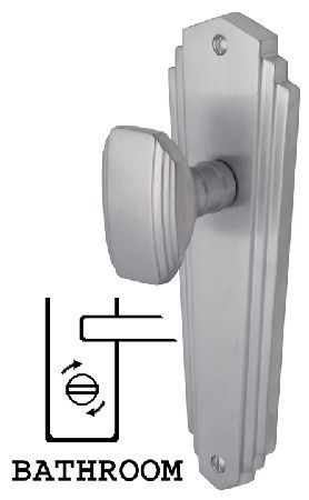 M.Marcus Heritage CHA1930 Charlston Satin Chrome Mortice Satin chrome Charlston contemporary mortice knob on bathroom plate door furniture. Outside measurements are 203x66mm and the backplates have a snib or release on either side connected by a 5mm spindle http://www.MightGet.com/january-2017-12/m-marcus-heritage-cha1930-charlston-satin-chrome-mortice.asp