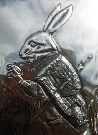 I'm late, I'm late, for a very important date!  The White Rabbit ... a classic from Alice in Wonderland.  Hand crafted in pewter by Caroline at Pewter Concepts