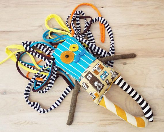 Gift for photographer Monster Doll Textile Stuffed Doll Rag