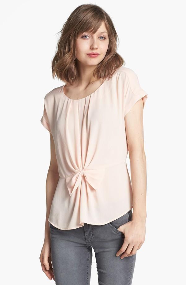 Peach pleated blouse!