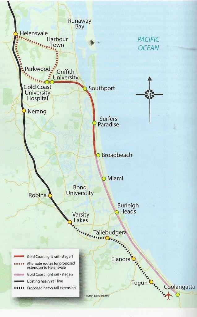 97 Reference Of Light Rail Gold Line Map Light Rail Nerang Gold Coast